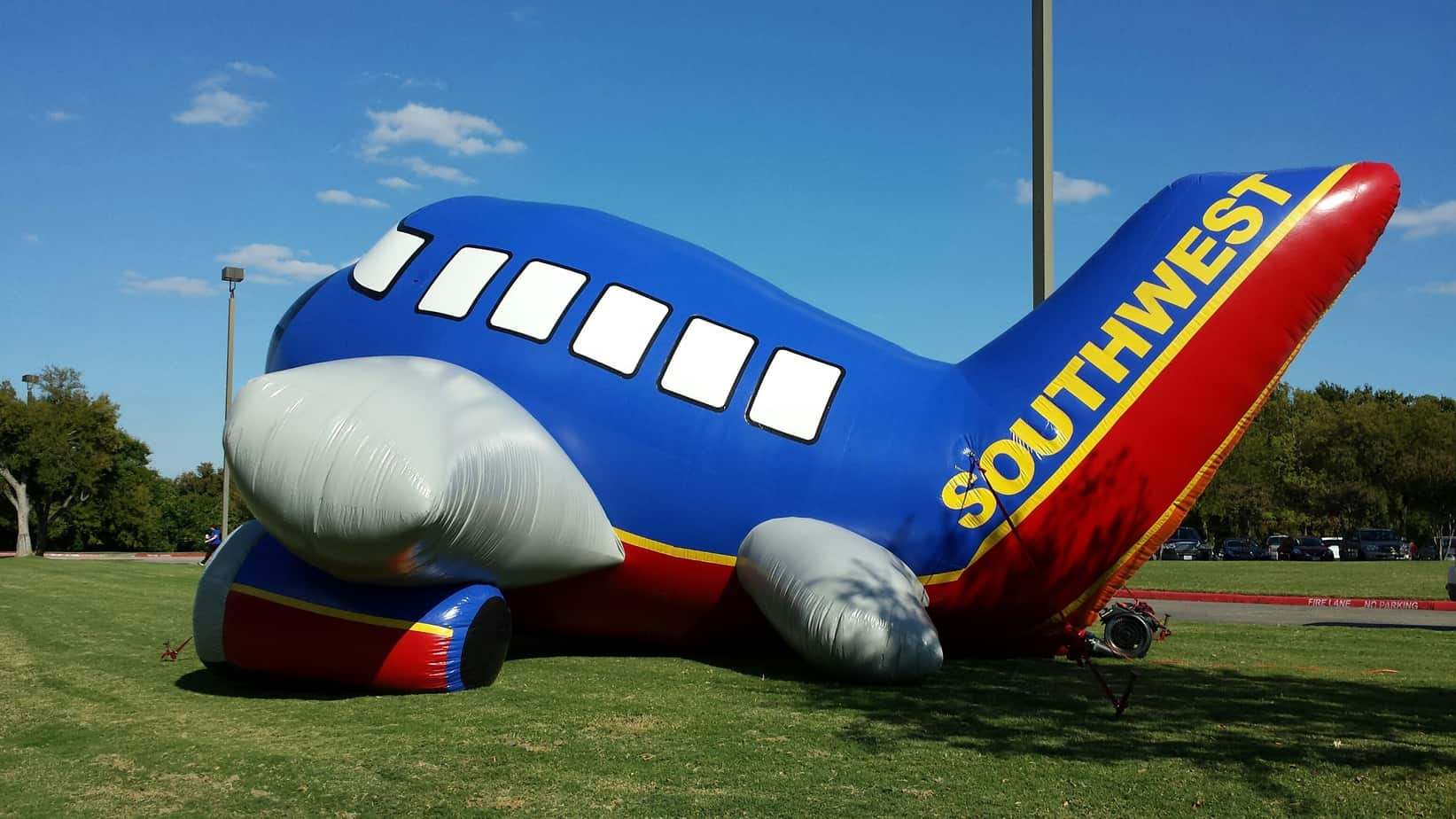 inflatable airplane advertising Southwest Luv Classic
