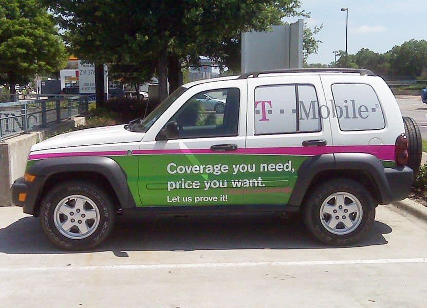 mobile advertising vehicle car wrap