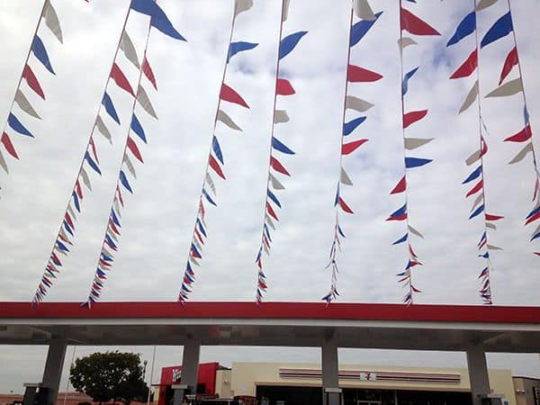 red white blue pennants custom colors available
