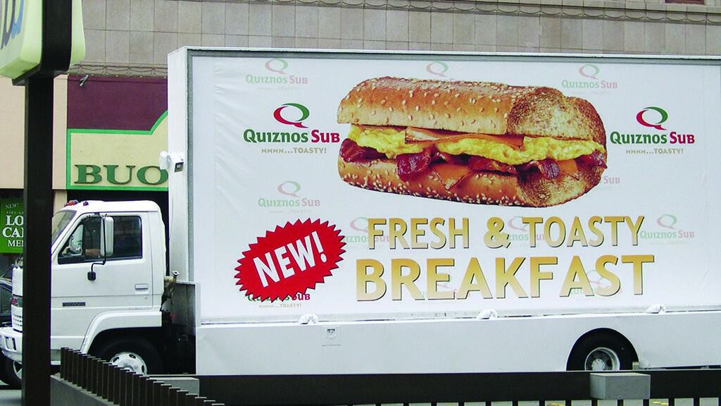 sandwiches subs fast food branded vehicle advertising