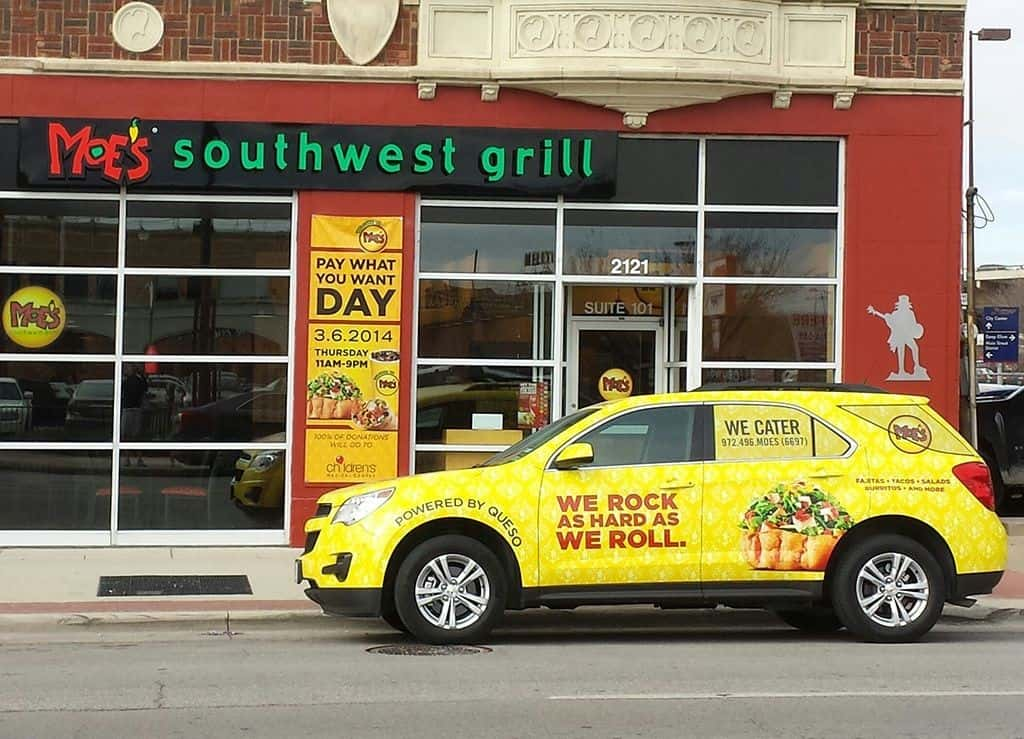 vehicle advertising removable car wraps