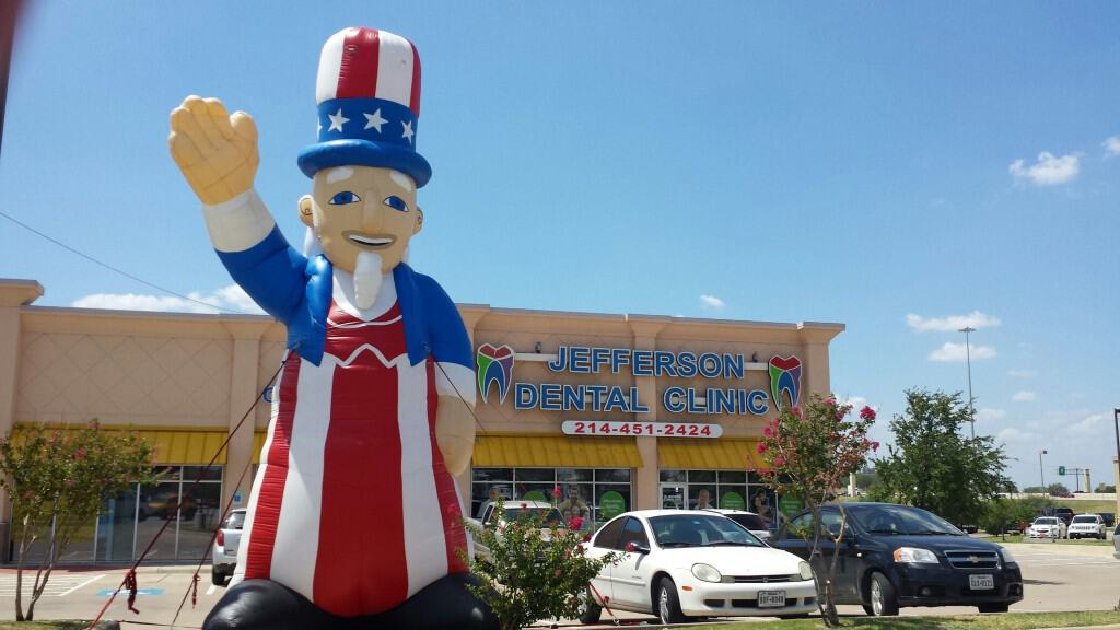 custom inflatables seasonal advertising patriotic fourth of july