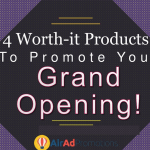 [Slideshare] 4 Essential Products to Promote Your Grand Opening