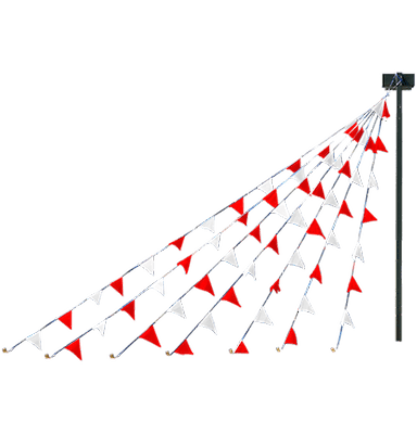 string pennants red white