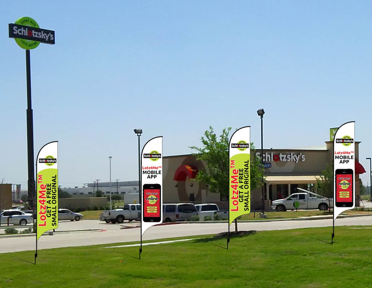 increase customer loyalty with advertising flags