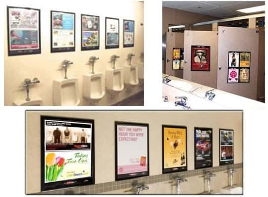 restaurants can teach us about creative advertising - restroom_stall_ads