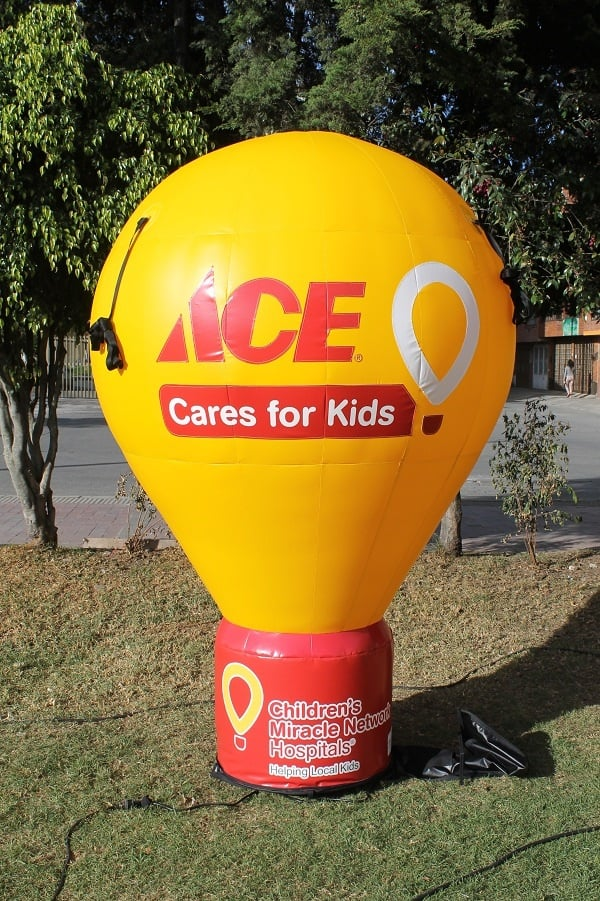 custom inflatable balloons charity event