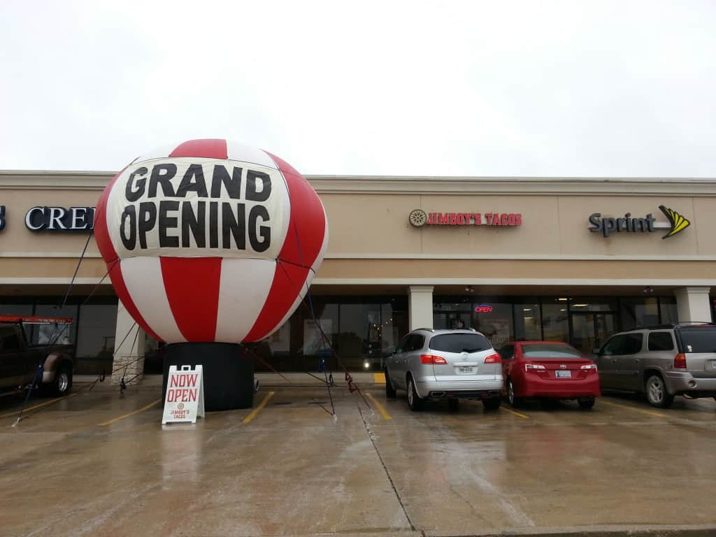 custom inflatable balloons grand opening