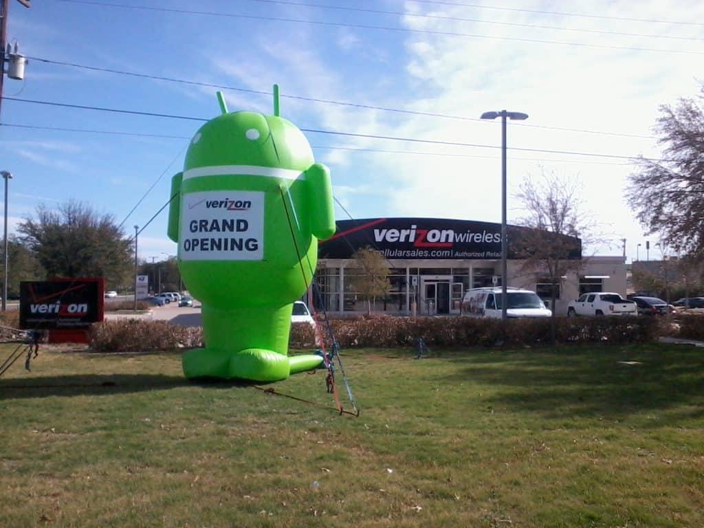 custom inflatable shape green