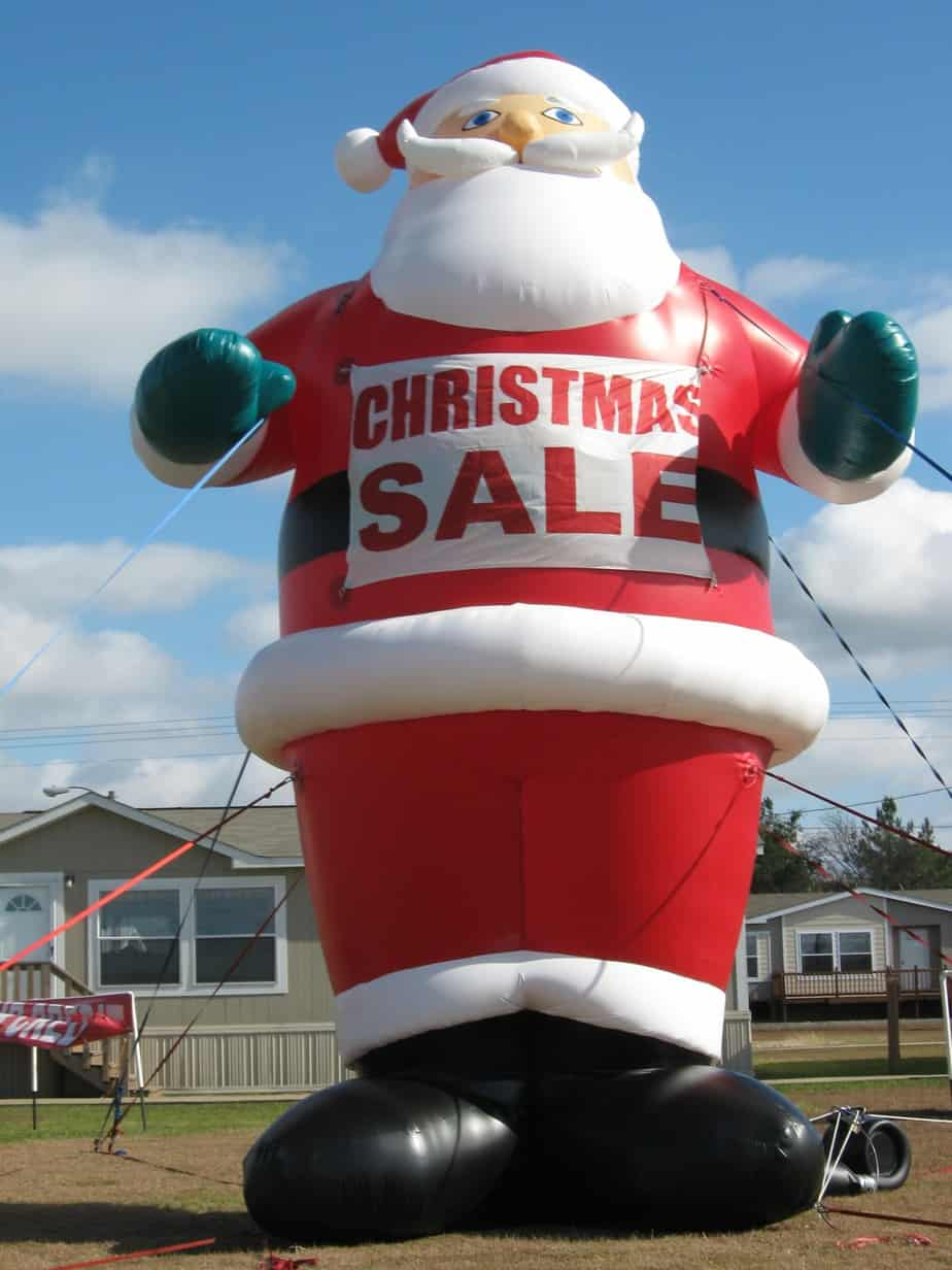 seasonal marketing inflatable santa