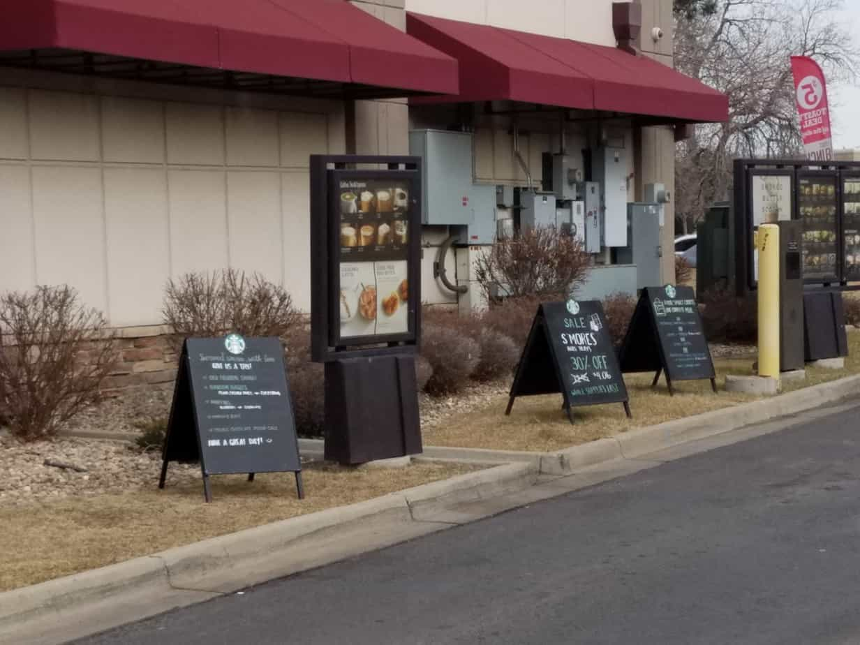 advertising examples sidewalk signs