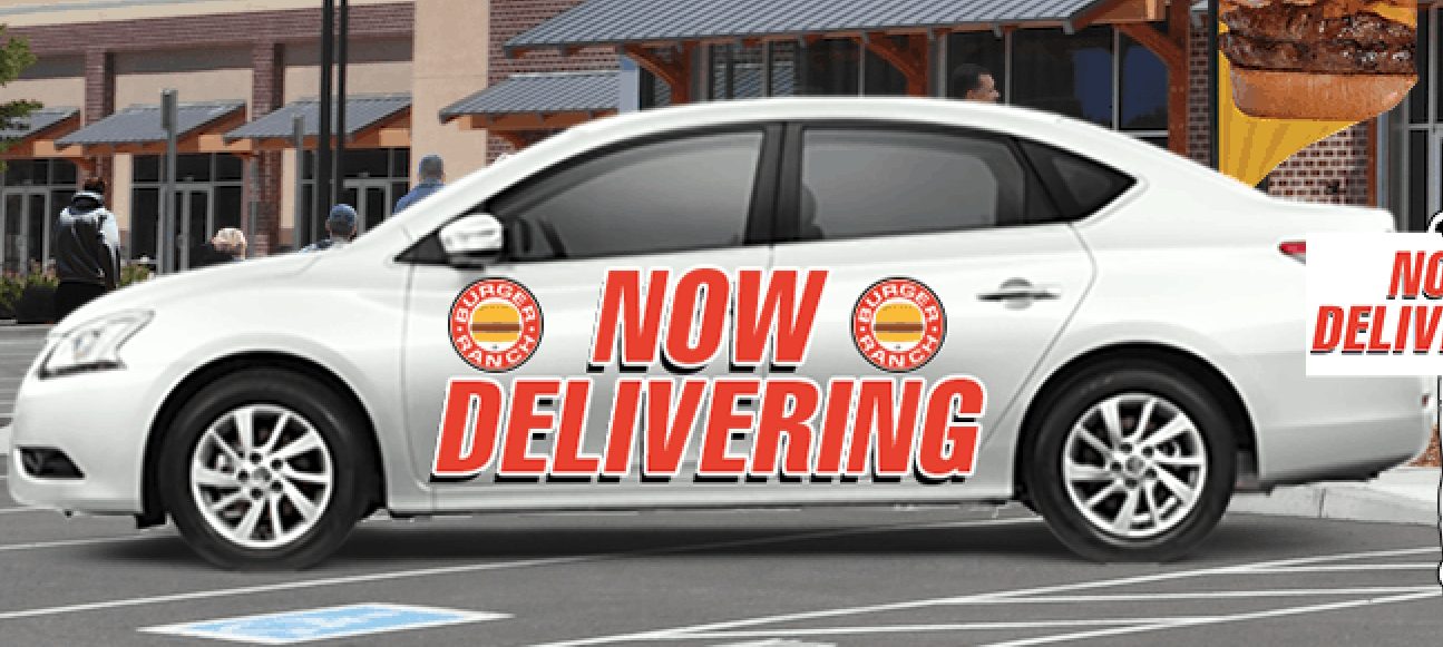 car wrap marketing restaurant delivery