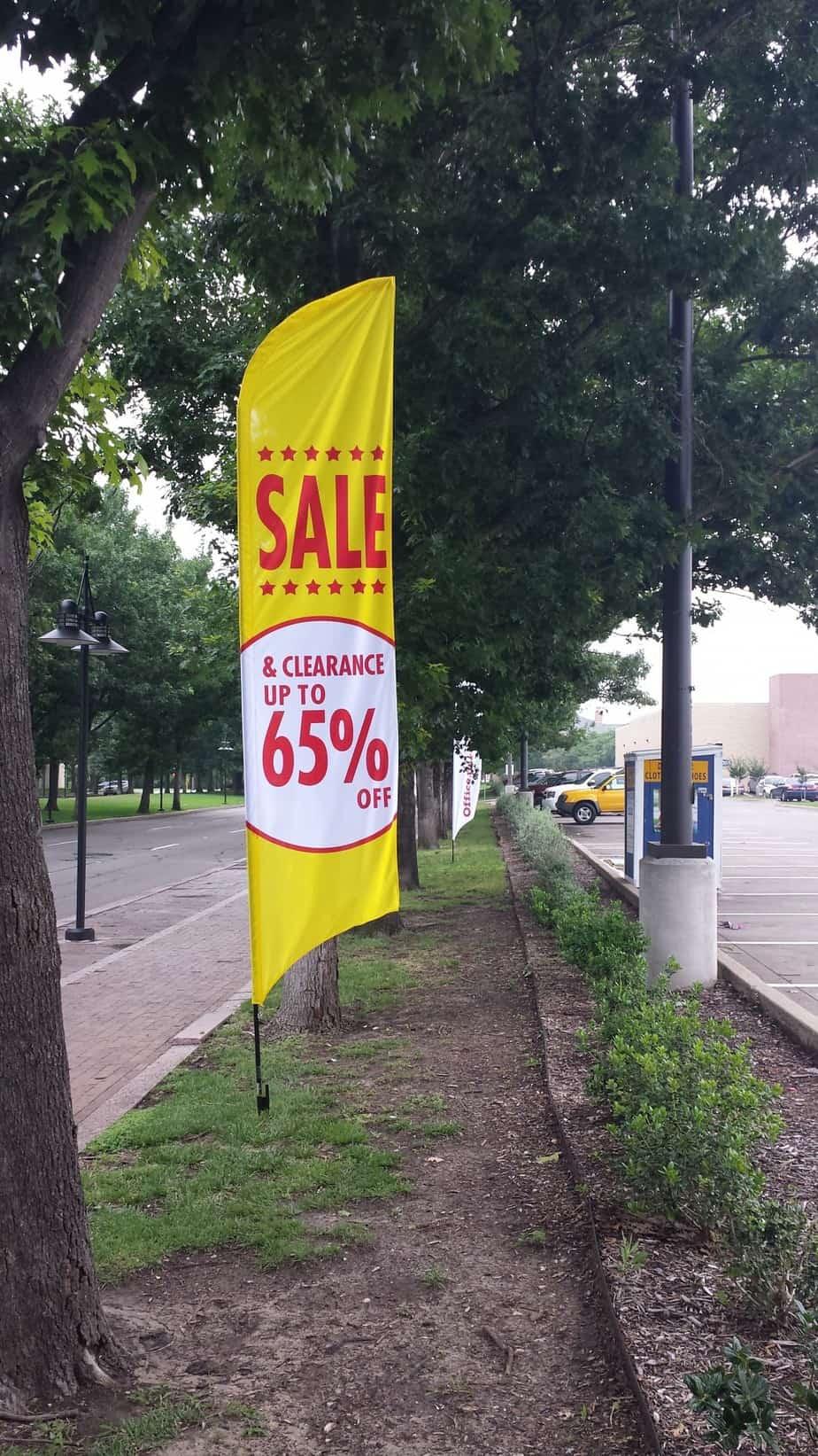 boosting sales fall season advertising flags