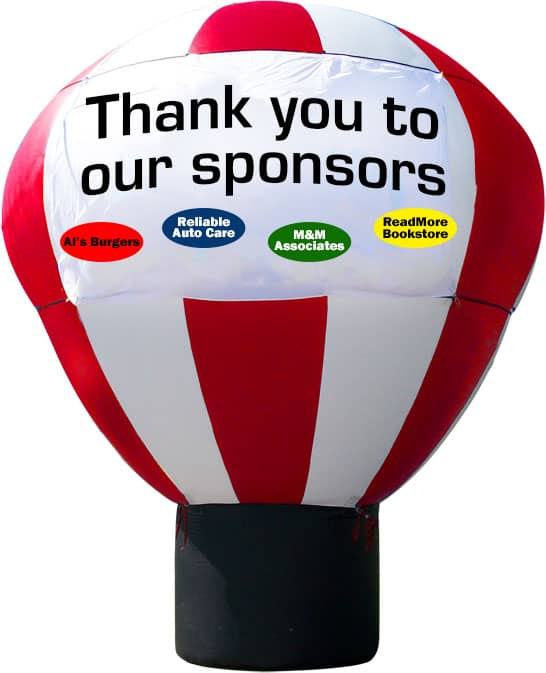 event sponsorship ideas advertising balloon on a white background.
